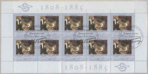 2647 Maler Carl Spitzweg - 10er-Bogen auf Kartonvorlage, ESST