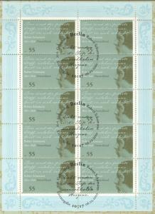 2797 Komponist und Pianist Robert Schumann - 10er-Bogen auf Kartonvorlage, ESST