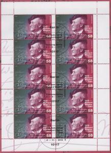 3008 Komponist und Dirigent Richard Wagner - 10er-Bogen auf Kartonvorlage, ESST
