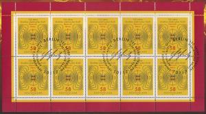 3036 Heinrich Hertz - 10er-Bogen auf Kartonvorlage, ESST