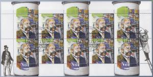 3211 200. Geburtstag von Ernst Litfaß - 10er-Bogen auf Kartonvorlage, ESST