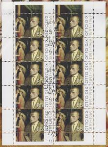 3267 Maler und Grafiker Otto Dix - 10er-Bogen auf Kartonvorlage, ESST