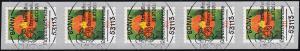 3482 Kapuzinerkresse 80 Cent sk aus 100er 5er-Streifen mit GERADER Nummer, EV-O