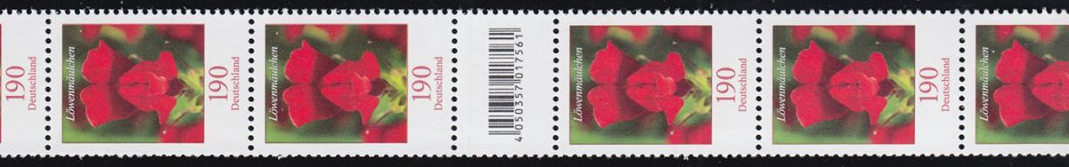 3474 Löwenmäulchen 190 Cent, RA 11 mit 100-95-90 (2 Codierfelder) ** 0