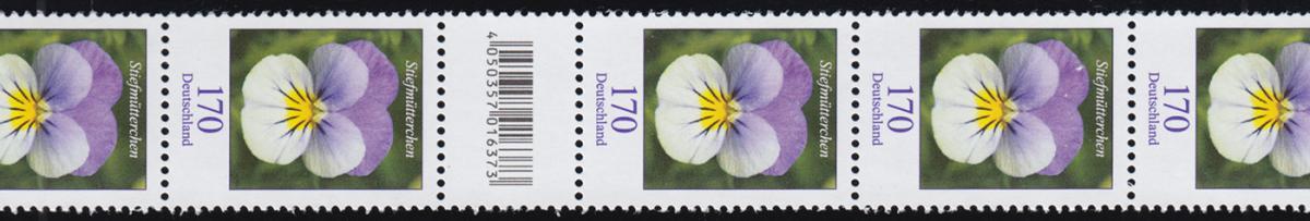 3473 Stiefmütterchen 170 Cent, RA 11 mit 100-95-90 (2 Codierfelder) ** 0