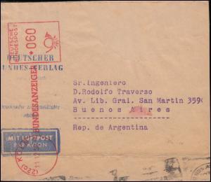 AFS Deutscher Bundesverlag Bundesanzeiger KÖLN 11.12.1958, Übersee-Streifband
