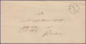 Preußen Vorphilatelie Brief Justizminister BERLIN 12.8.1840 nach Paderborn 15.8.