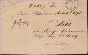 Preußen Vorphilatelie Brief Justiz-Ministerium BERLIN 25.1.1843 nach Koblenz