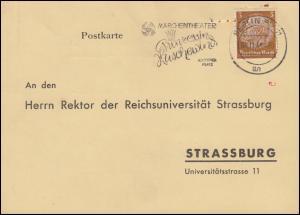 Drucksache Reichsamt für Wirtschaftsausbau BERLIN 8.11.41 nach Strassburg