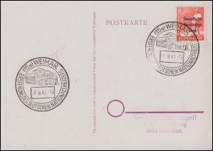Eröffnung des Deutschen Nationaltheaters SSt WEIMAR 8.8.1948 auf Solitaritäts-AK