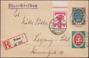 107+108+109 Nationalversammlung R-Brief WEIMAR-NATIONALVERSAMMLUNG 20.8.1919