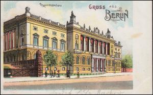 Ansichtskarte Gruss aus Berlin Abgeordnetenhaus, 26.7.1905 als Orts-Postkarte