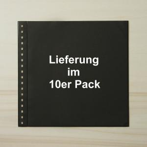 LINDNER Omnia Einsteckblatt 01 schwarz 1 Streifen - 10er-Packung