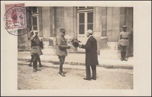 128 Kriegswaisen Maximumkarte SSt SAINT GERMAIN en LAYE Friedenskongress 5.7.19