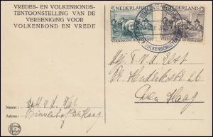 233+234 Rembrandt auf AK Europa SSt ´sGRAVENHAGE Frieden und Völkerbund 1.2.1930