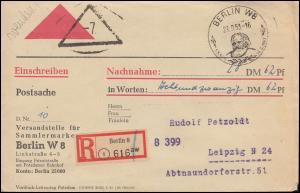 DDR-Postkriegsvignette Pk V1 auf Postsache SSt BERLIN 29.9.53 nach Leipzig