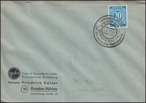 924 Ziffer Brief SSt Dresden Vereinigungsparteitag KPD und SPD zur SED 7.4.1946