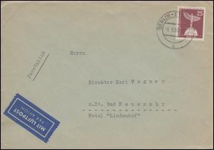 147 Lilienthal-Denkmal portogerechte EF Luftpost-Brief BERLIN-STEGLITZ 6.9.1956