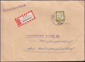360y Oppenheimer EF R-Brief MANNHEIM 26.8.1964 nach Mönchengladbach
