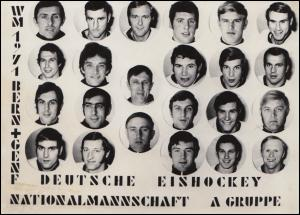 AK Eishockey WM 1971 Deutsche Nationalmannschaft Unterschrift Schramm & Schloder