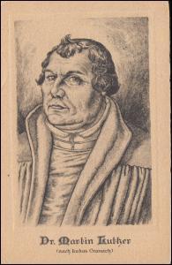 Ansichtskarte Dr. Martin Luther, nach Lukas Cranach GELSENKIRCHEN-BUER 12.5.1941
