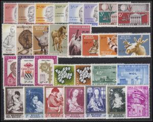 1234-1263 Belgien Jahrgang 1961 komplett, postfrisch