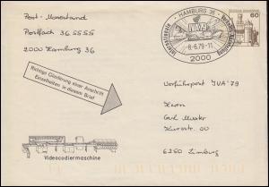Postautomation Umschlag SWK 60 Pf. Hamburg 8.6.79 IVA-Vorführpost zur IVA'79