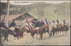 Feldpost K.D. Feldpostamt deutscher Südarmee 7.6.1915, AK Gruß aus den Karpaten