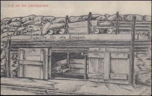 Feldpost BS 5. Komp. Ers.-Infanterie-Regiment 32 auf AK Schützengraben, 20.8.15
