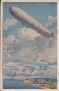 AK Reichsmarineluftschiff. Wacht an deutscher Ostseeküste, DÜPPENWEILER 1917