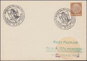 PP 122: SSt Einholung der Fahnen des Deutschen Ritterordens, MARIENBURG 19.5.40