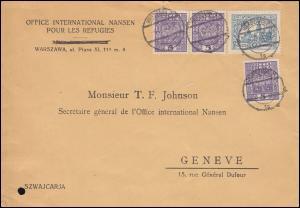 Polen 242 Krakau mit 272 Wappen-Frankatur MiF Brief WARSCHAU 3.4.1935 nach Genf