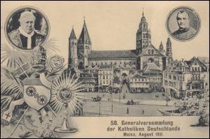 AK 58. Generalversammlung der Katholiken Deutschlands Mainz 6.8.1911