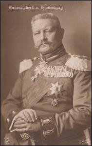 Fotokarte Reichspräsident Generaloberst Paul von Hindenburg, AACHEN 9.12.14
