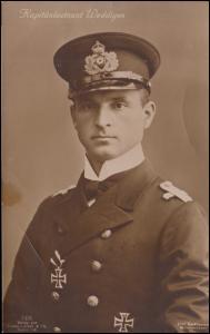 Fotokarte Kapitänleutnant Otto Weddigen U-Boot-Kommandant, ungebraucht