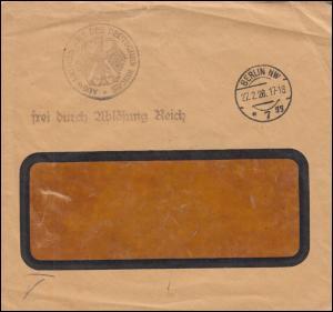 Frei durch Ablösung Auswärtiges Amt des Deutschen Reichs Brief BERLIN 27.2.1928