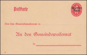 Dienstpostkarte einer Behörde DPB 1 Bayern 15/15 DV 21, Doppelkarte ungebraucht