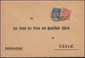 30+32 Dienst-MiF Reichsdienstsache Auswärtiges Amt BERLIN-KURIERSTELLE 25.1.1922