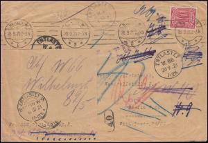 28 Dienstmarke Brief Ministerium des Innnern BERLIN 28.9.21 ENTLASTET-Stempel