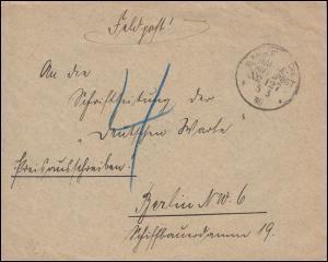 DEUTSCHE MARINE-SCHIFFSPOST No 127 - 5.5.1918 SMS Hindenburg auf Feldpostbrief