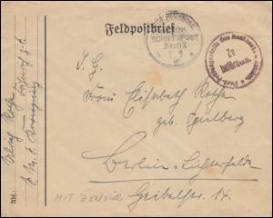 DEUTSCHE MARINE-SCHIFFSPOST No 93 - 7.9.1917 SMS Kronprinz Brief mit Zensur