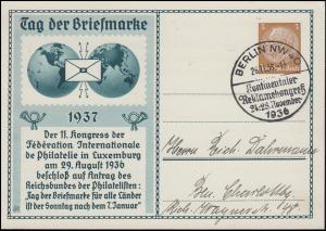 PP 122C 20/02 Hindenburg Tag der Briefmarke SSt BERLIN Reklamekongress 26.11.36