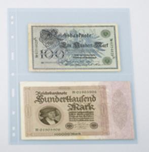 Lindner UNIPLATE 092, glasklar, 2 Streifen (Höhe je 128 mm), 5 Blätter