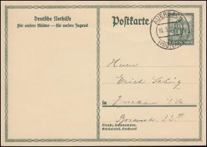 Sonderpostkarte P 212II Nothilfe Dresdner Zwinger AUERBACH / VOGTLAND 10.3.32