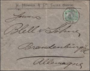 Ägypten Pyramide 2 Mill. auf Brief von CAIRO 29.6.1891 nach BRANDENBURG 6.7.91
