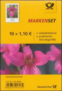 FB 92 Blume Wild-Gladiole, Folienblatt mit 10x 3489, postfrisch **