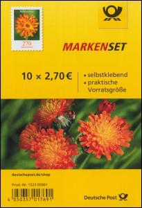 FB 93 Blume Habichtskraut, Folienblatt mit 10x 3490, postfrisch **