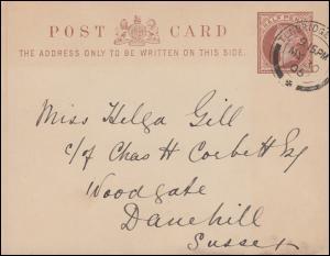 Großbritannien Postkarte Königin Viktoria Half Penny TUNBRIDGE WELLS 30.5.1905