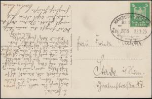 Bahnpost HAMBURG-STETTIN ZUG 338 - 22.9.1925 auf AK Grevesmühlen Am See