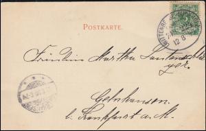 Bahnpost WITTENBERGE-BUCHHOLZ ZUG 224 - 12.8.1899, AK Josef Büche Frauenbildnis